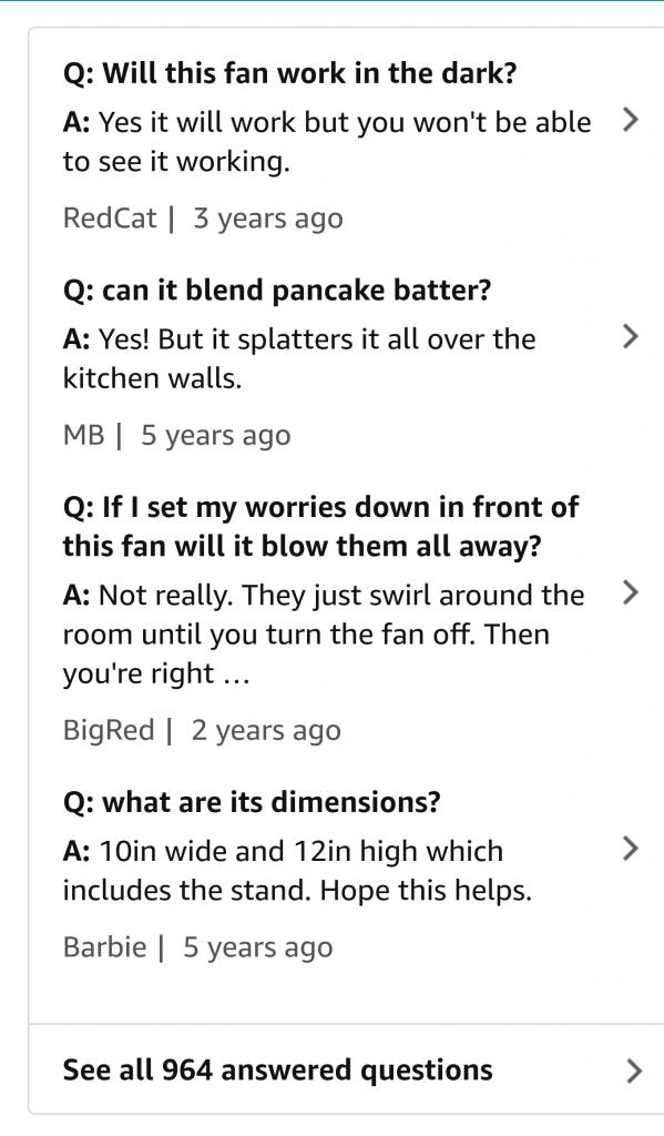 Fan Q&A