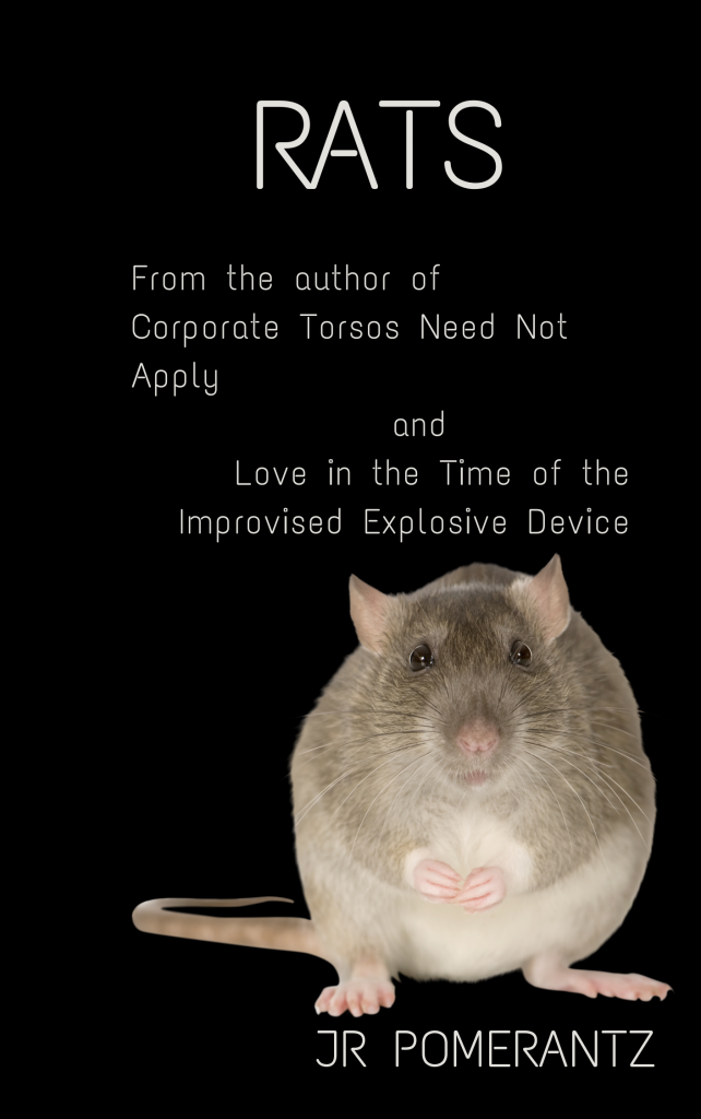 Cover art for the story Rats; it's a rat on a black background